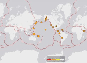 世界の地震MAP